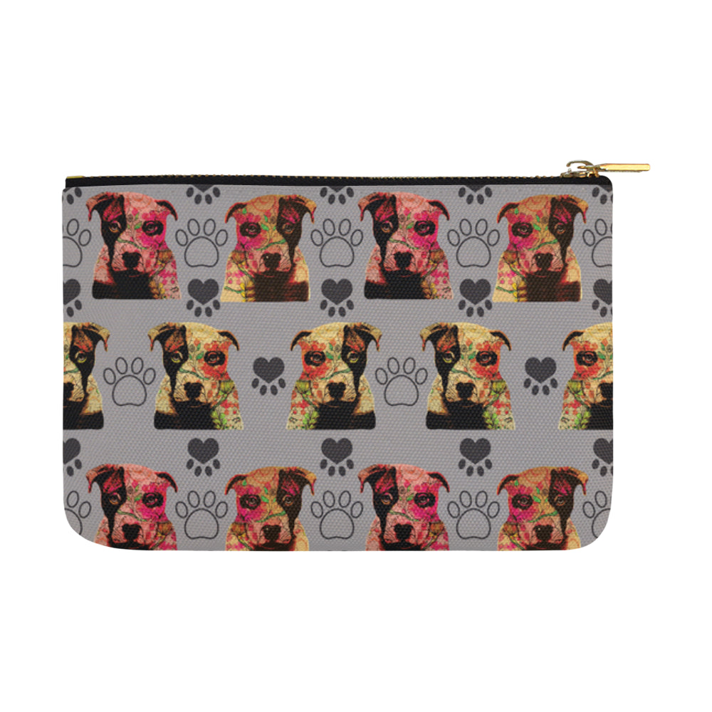 Pit Bull Pop Art Pattern No.1 Carry-All Pouch 12.5x8.5 - TeeAmazing