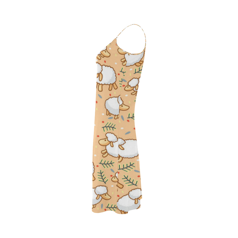 Sheep Alcestis Slip Dress - TeeAmazing