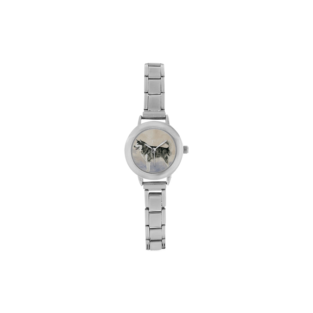 Alaskan Malamute Water Colour Women's Italian Charm Watch - TeeAmazing