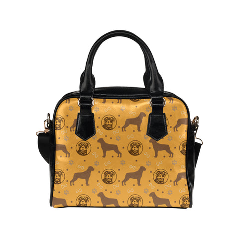 Rottweiler Pattern Shoulder Handbag - TeeAmazing