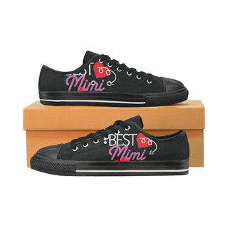Mimi Black Women's Classic Canvas Shoes (Model 018) - TeeAmazing