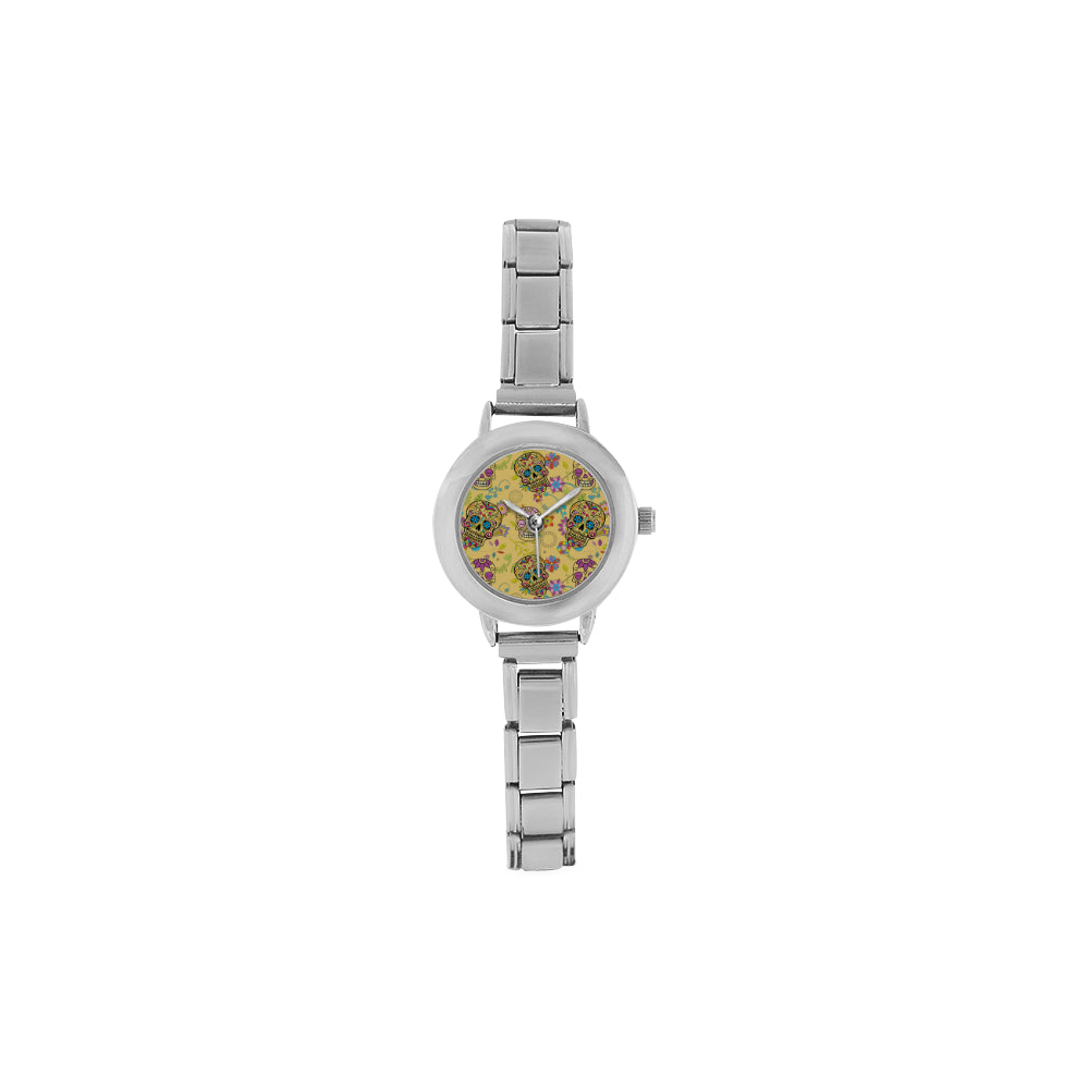 Sugar Skull Women's Italian Charm Watch - TeeAmazing