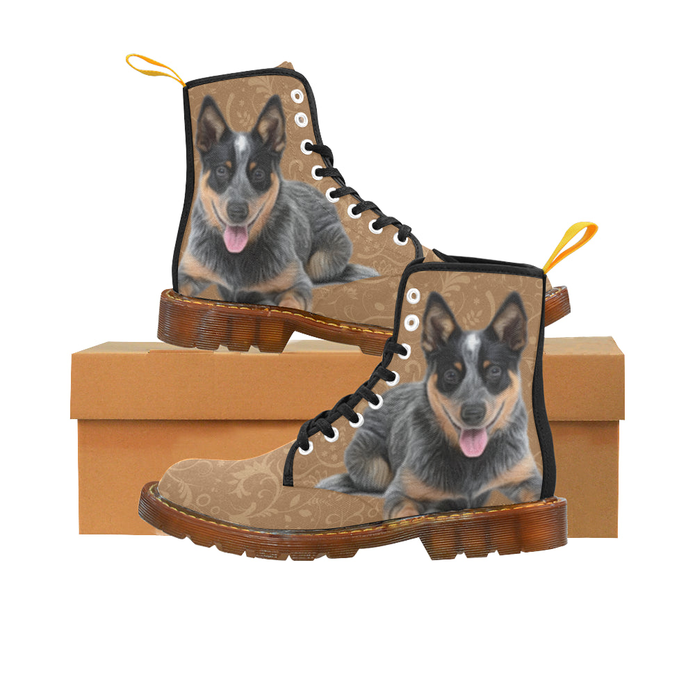 Australian Cattle Dog Lover Black Boots For Women - TeeAmazing