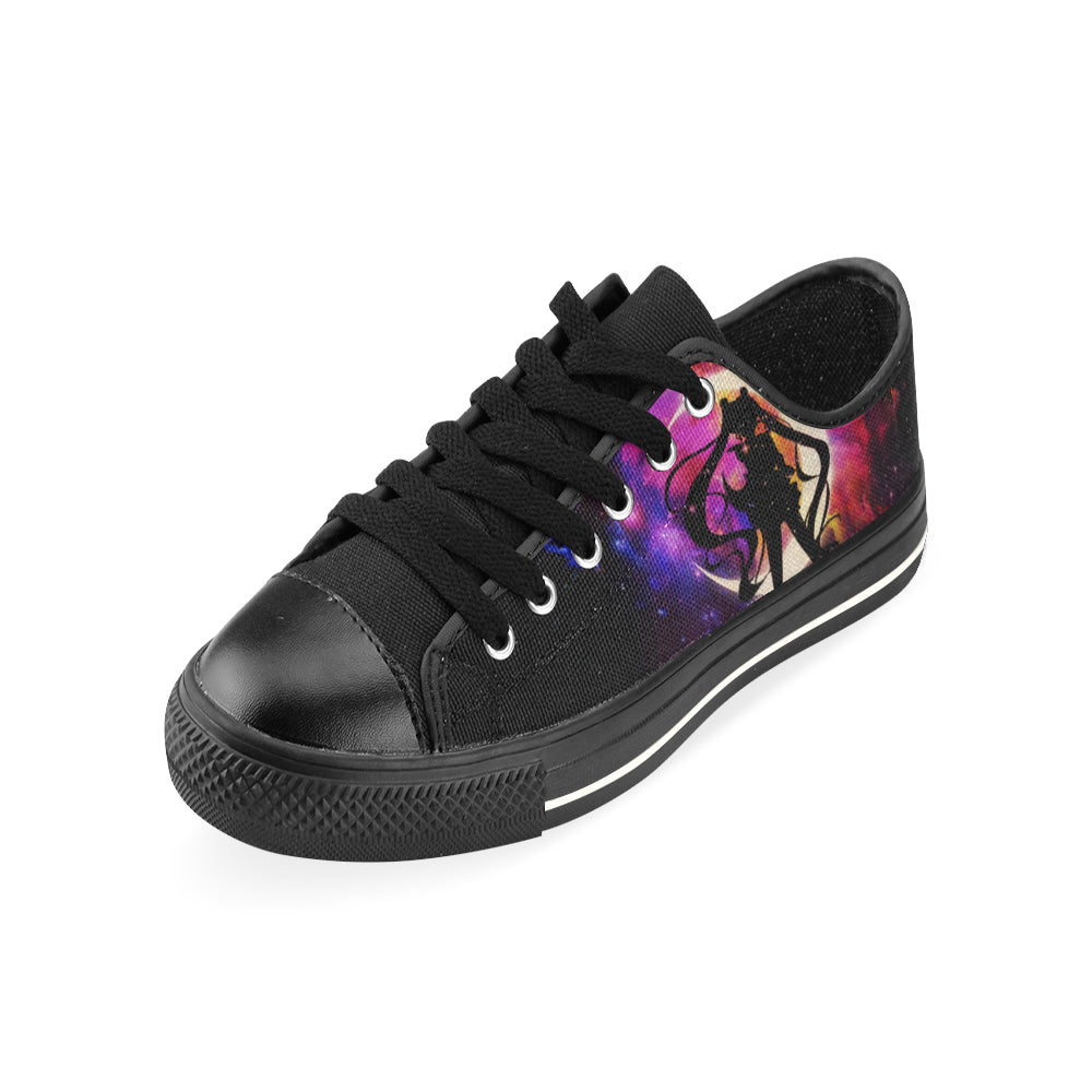 Sailor Moon Black Low Top Canvas Shoes for Kid - TeeAmazing