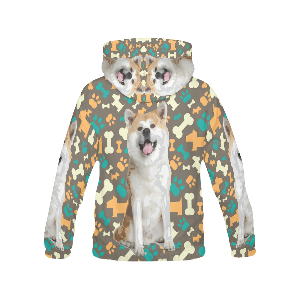 Akita All Over Print Hoodie for Men - TeeAmazing