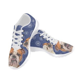 English Bulldog Lover White Sneakers for Men - TeeAmazing