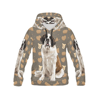 St. Bernard Dog All Over Print Hoodie for Women (USA Size) (Model H13) - TeeAmazing