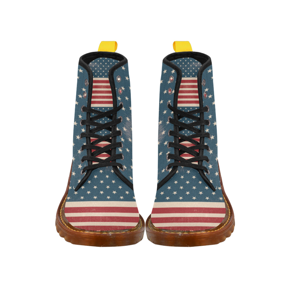 4th July V2 Black Boots For Women - TeeAmazing