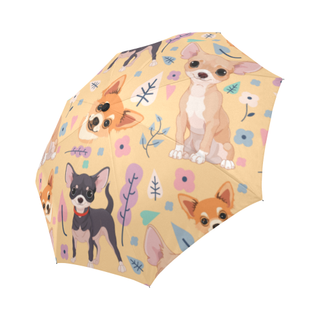 Chihuahua Flower Auto-Foldable Umbrella - TeeAmazing
