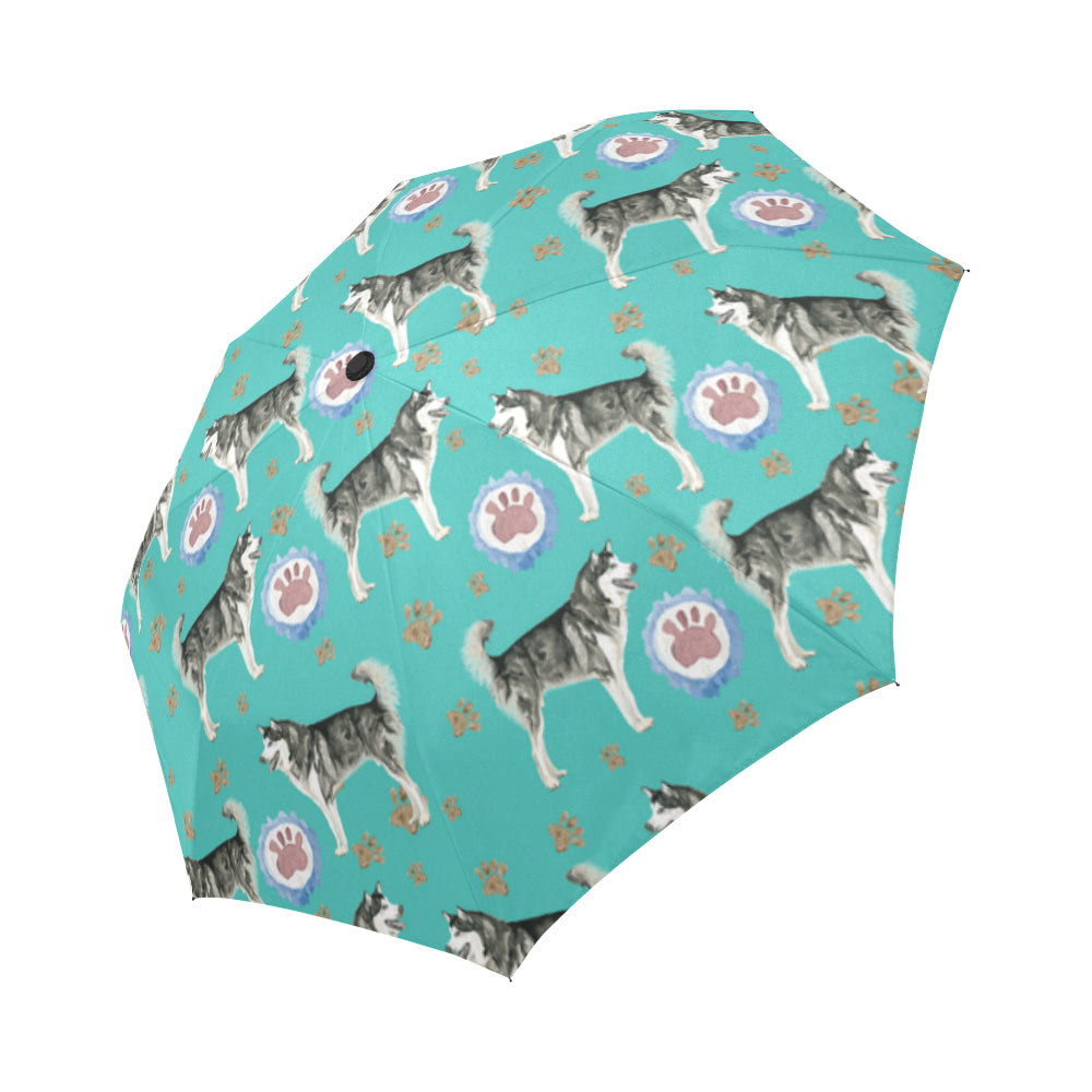 Alaskan Malamute Water Colour Pattern No.1 Auto-Foldable Umbrella - TeeAmazing