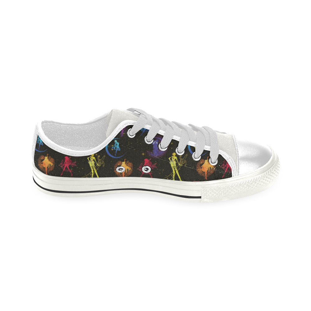 All Sailor Soldiers White Men's Classic Canvas Shoes - TeeAmazing