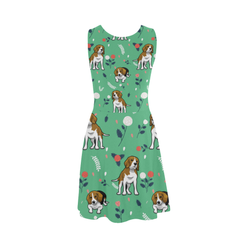 Beagle Flower Atalanta Sundress - TeeAmazing