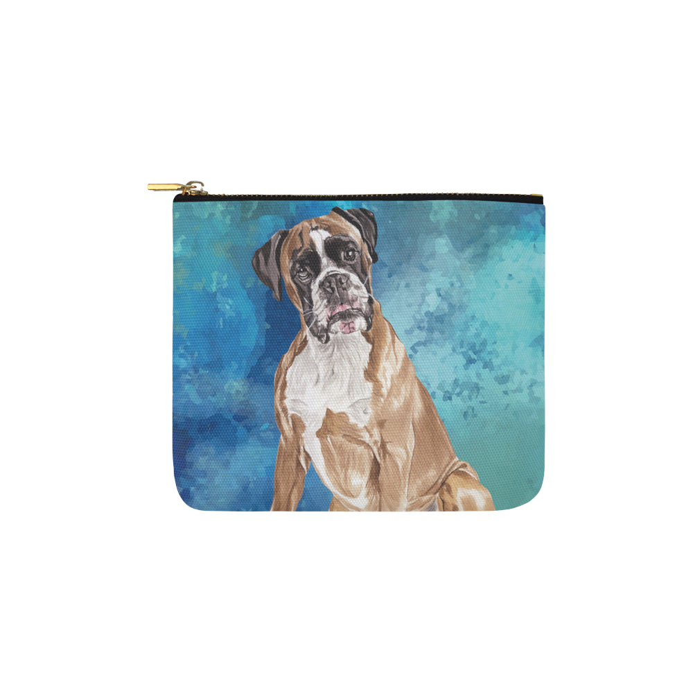 Boxer Water Colour Carry-All Pouch 6x5 - TeeAmazing