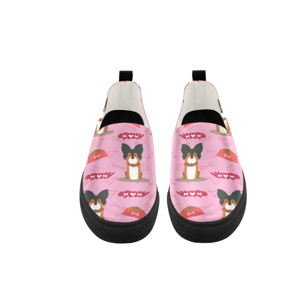Papillon Pattern Apus Slip-on Microfiber Women's Shoes - TeeAmazing