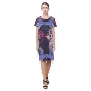 Sugar Skull Candy Short Sleeves Casual Dress - TeeAmazing