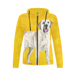 Labrador Retriever Water Colour No.1 All Over Print Full Zip Hoodie for Women - TeeAmazing