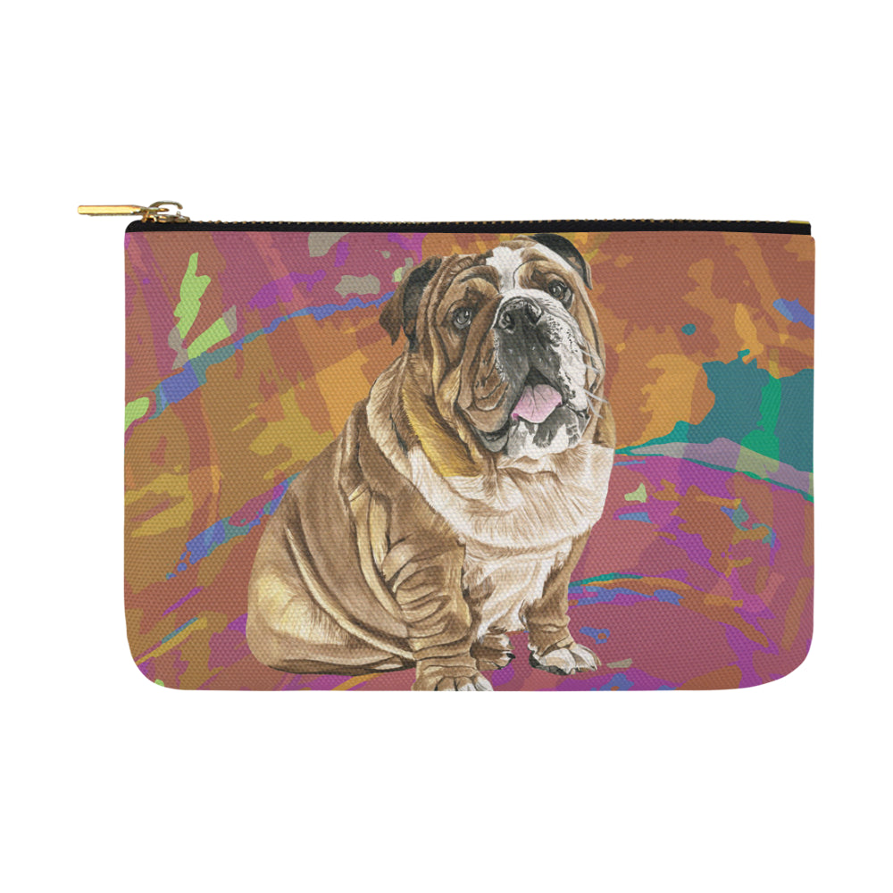 English Bulldog Water Colour No.2 Carry-All Pouch 12.5x8.5 - TeeAmazing