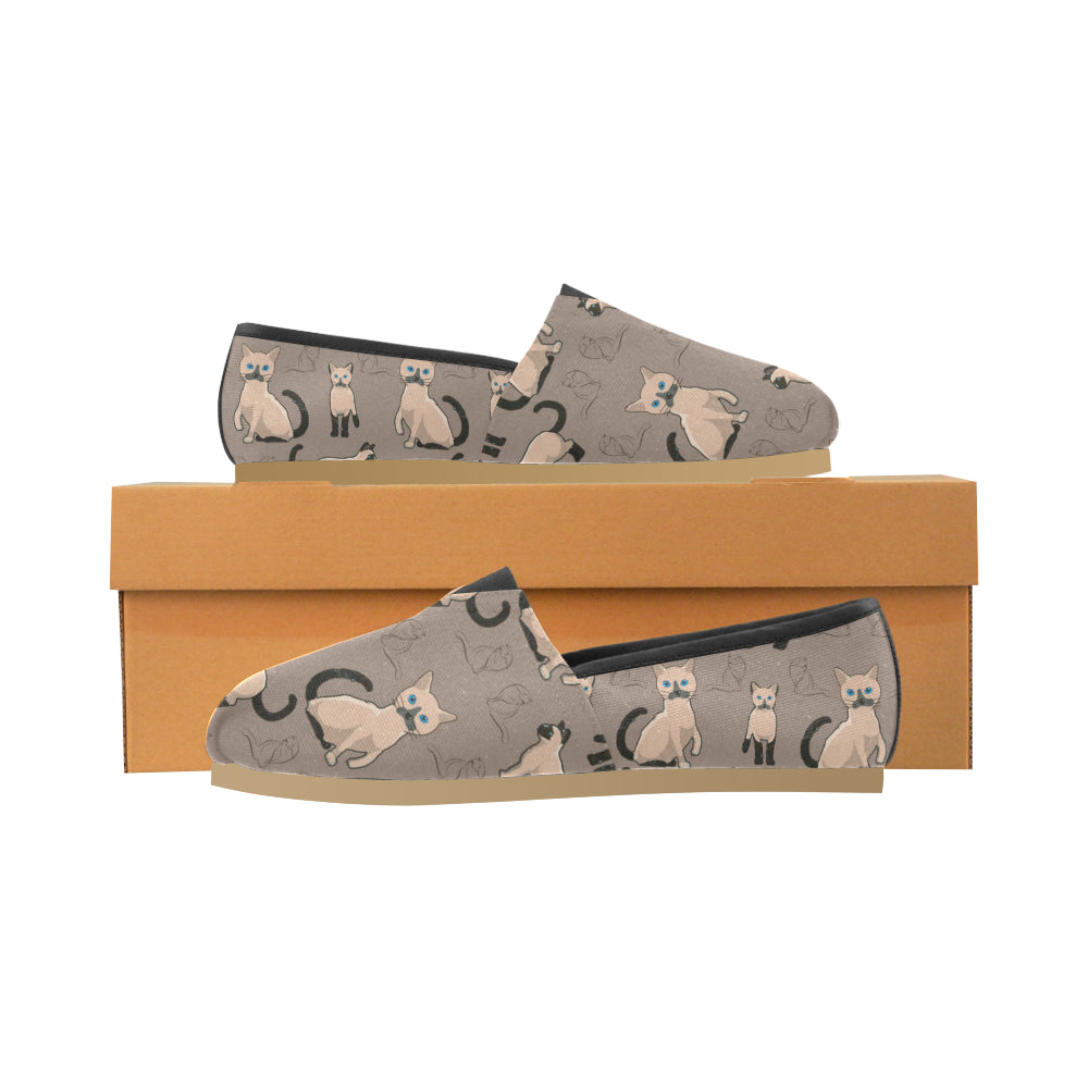 Tonkinese Cat Women's Casual Shoes (Model 004) - TeeAmazing