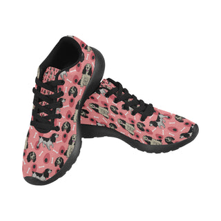 English Springer Spaniels Black Sneakers for Women - TeeAmazing