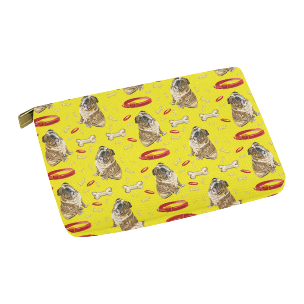 English Bulldog Water Colour Pattern No.2 Carry-All Pouch 12.5x8.5 - TeeAmazing