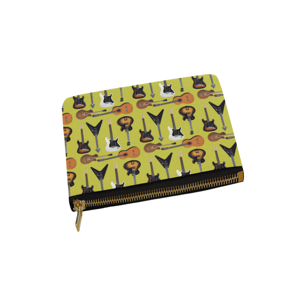 Guitar Pattern Carry-All Pouch 6x5 - TeeAmazing
