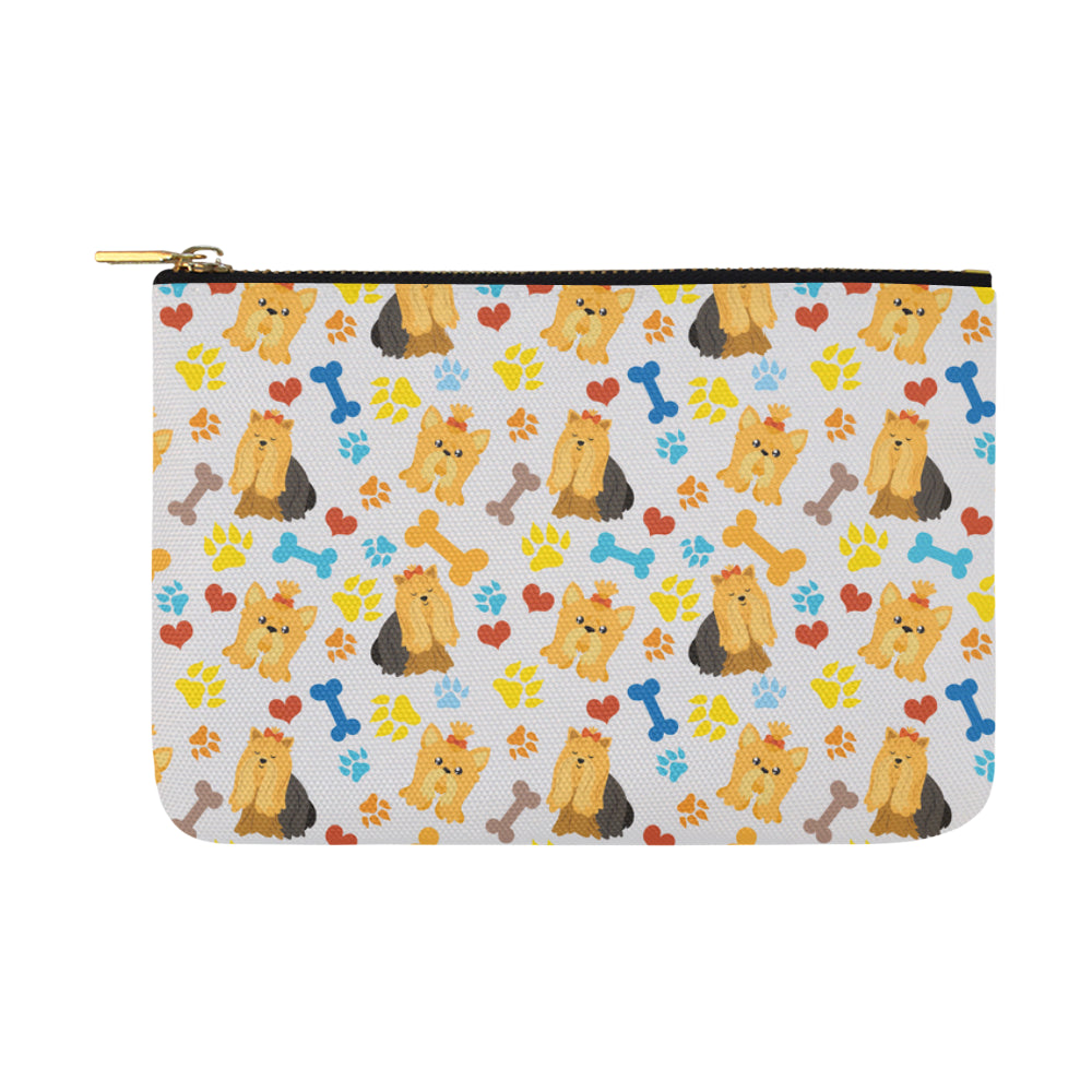 Shih Tzu Pattern Carry-All Pouch 12.5x8.5 - TeeAmazing