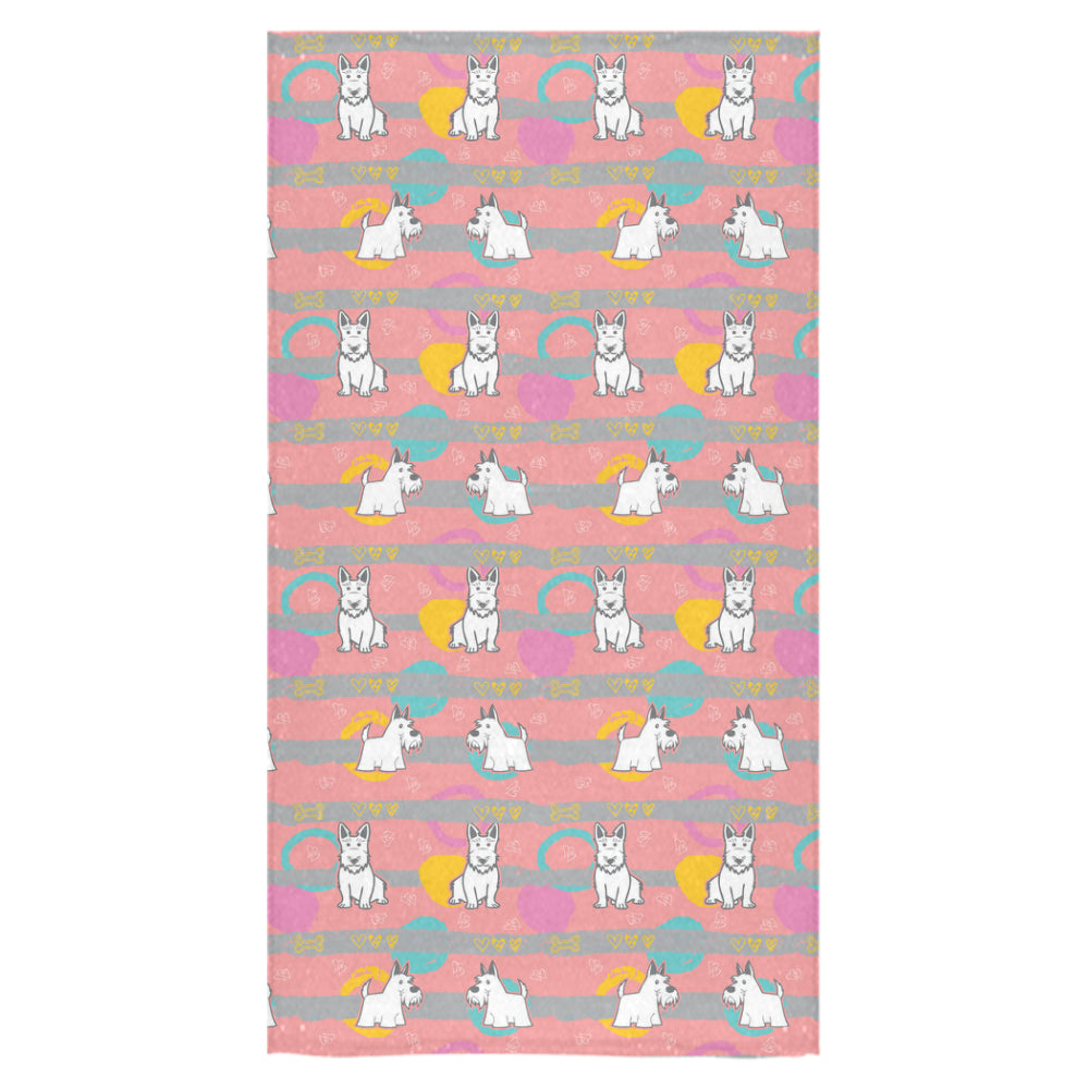 "Scottish Terrier Pattern Bath Towel 30""x56"" - TeeAmazing"