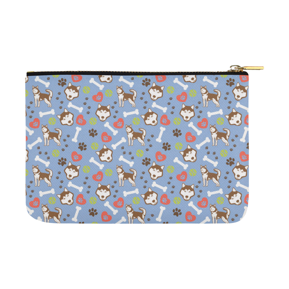Alaskan Malamute Pattern Carry-All Pouch 12.5x8.5 - TeeAmazing