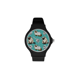 Himalayan Cat Unisex Round Plastic Watch - TeeAmazing