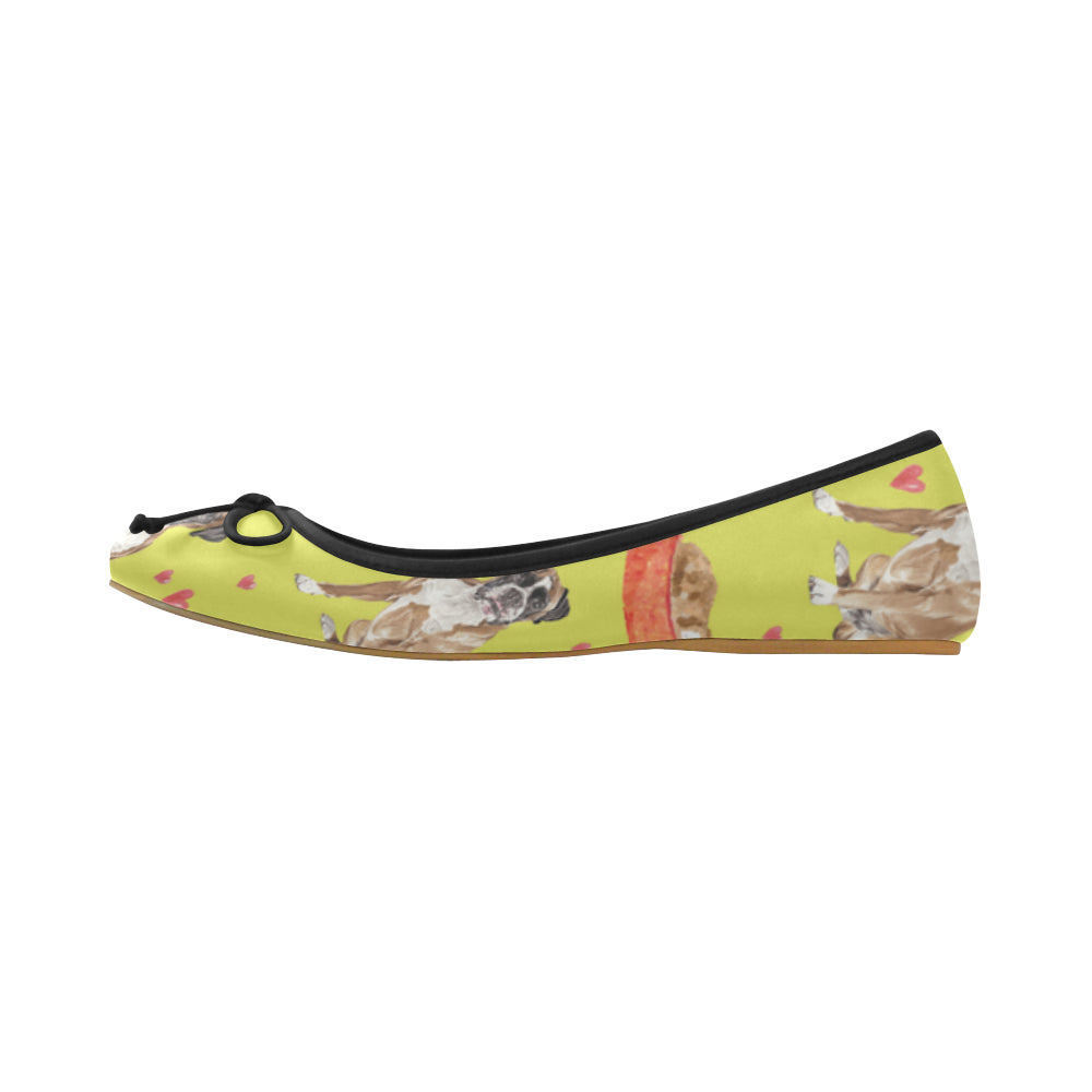 Boxer Water Colour Pattern No.2 Juno Ballet Pumps - TeeAmazing