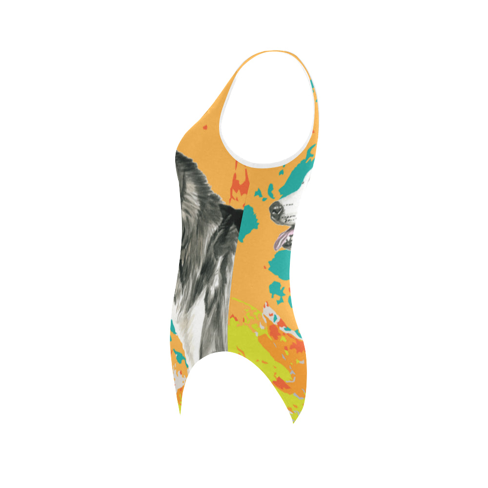 Alaskan Malamute Water Colour No.2 Vest One Piece Swimsuit - TeeAmazing