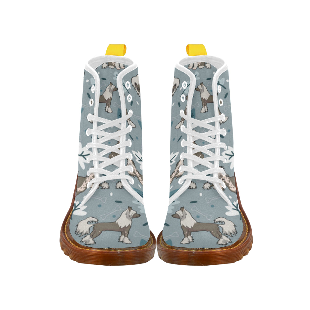 Chinese Crested White Boots For Men - TeeAmazing