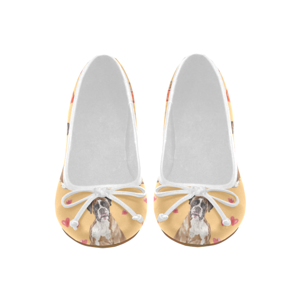 Boxer Water Colour Pattern No.1 Juno Ballet Pumps - TeeAmazing