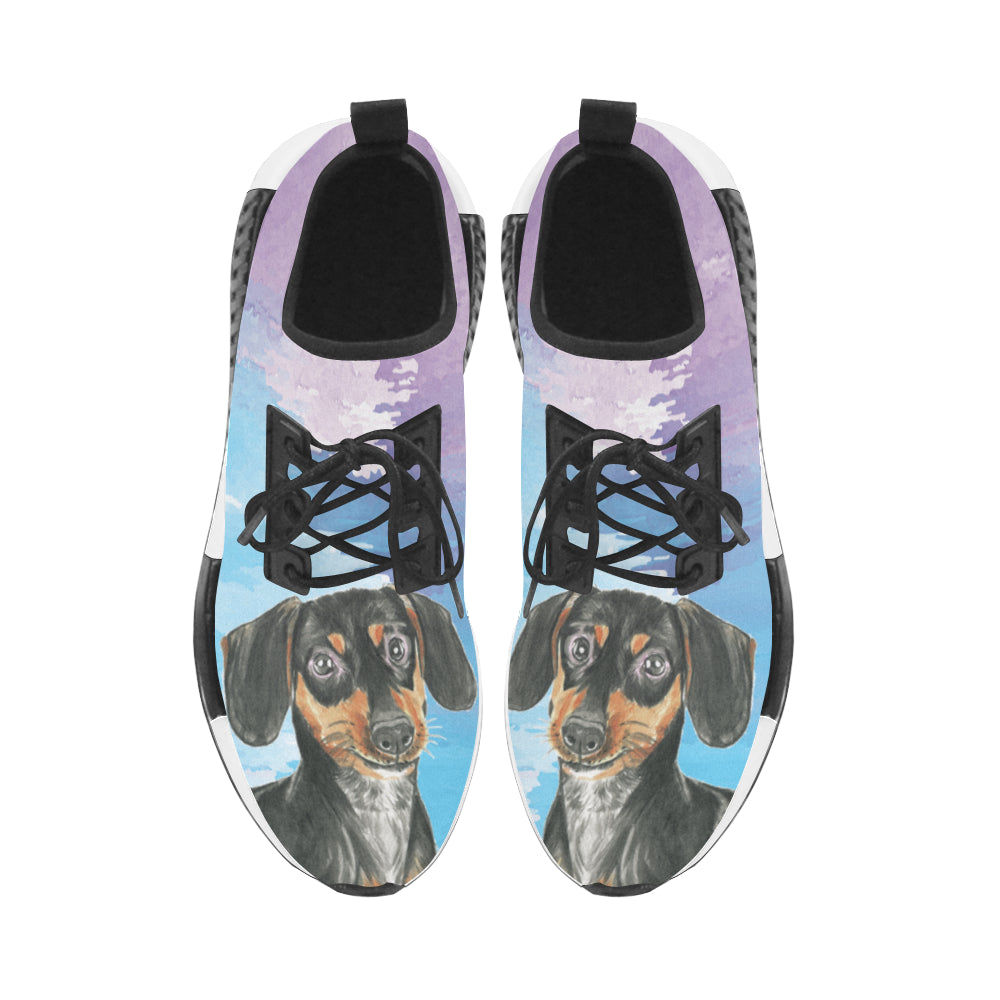 Dachshund Water Colour No.1 Women's Draco Running Shoes - TeeAmazing