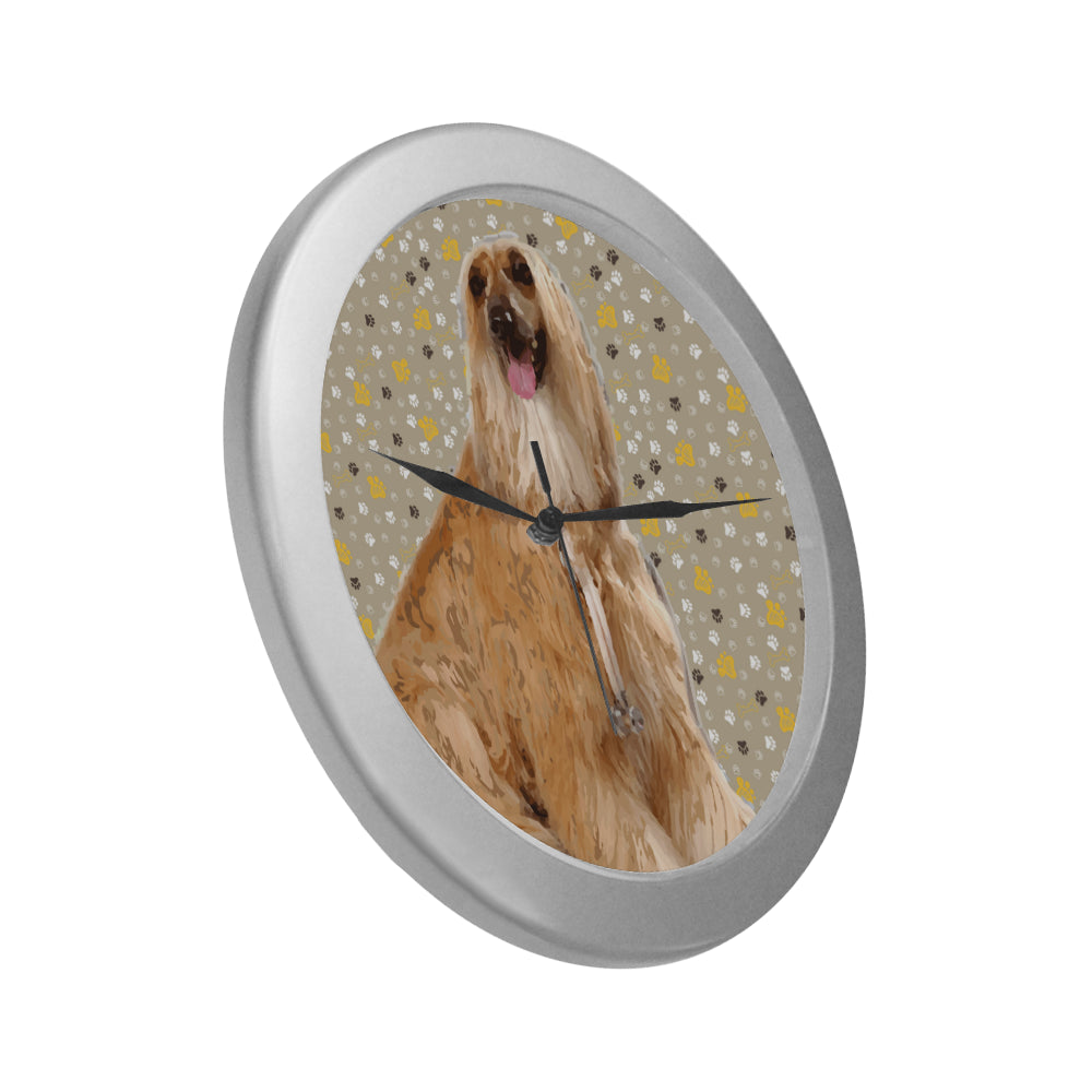 Afghan Hound Silver Color Wall Clock - TeeAmazing