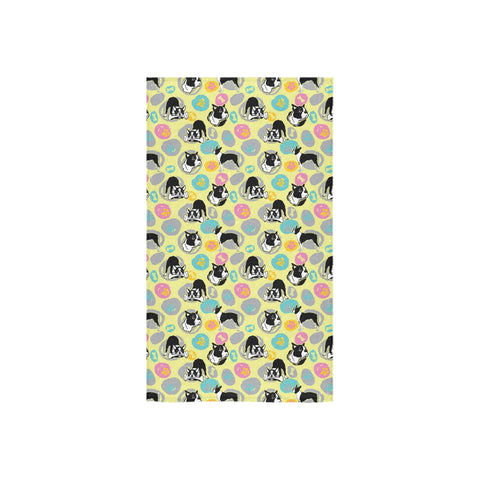 "Boston Terrier Pattern Custom Towel 16""x28"" - TeeAmazing"