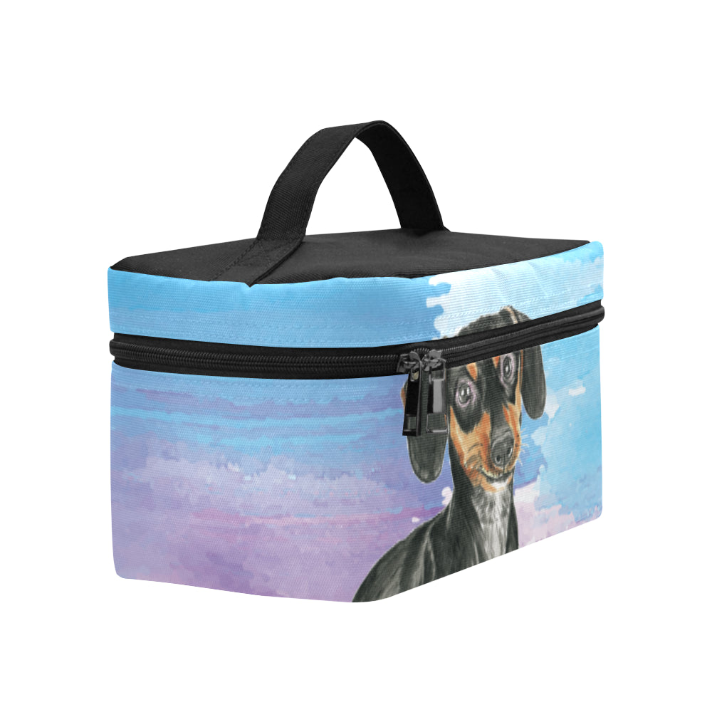 Dachshund Water Colour No.1 Cosmetic Bag/Large - TeeAmazing