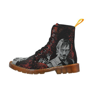Daryl and Zombie's Hands Black Martin Boots For Women - TeeAmazing