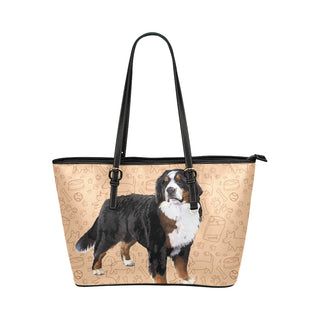 Bernese Mountain Leather Tote Bag/Small - TeeAmazing