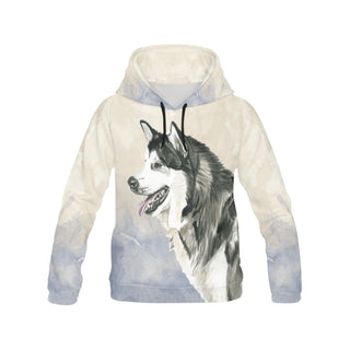 Alaskan Malamute Water Colour No.2 All Over Print Hoodie for Women (USA Size) (Model H13) - TeeAmazing