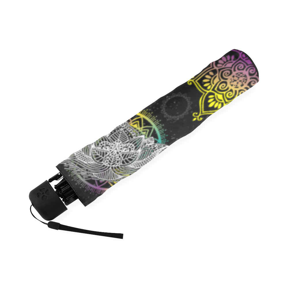 Lotus and Mandalas Foldable Umbrella - TeeAmazing