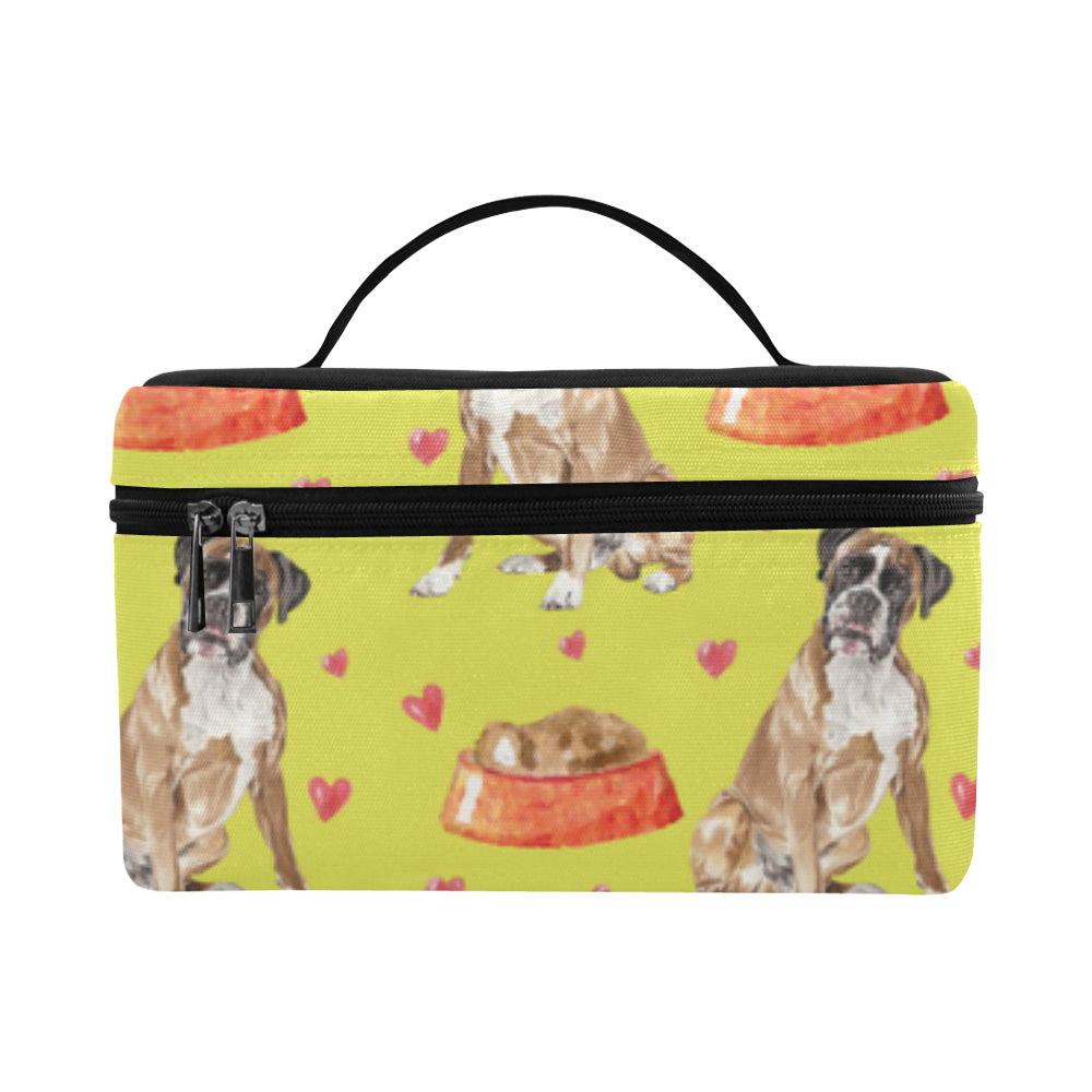 Boxer Water Colour Pattern No.2 Cosmetic Bag/Large - TeeAmazing