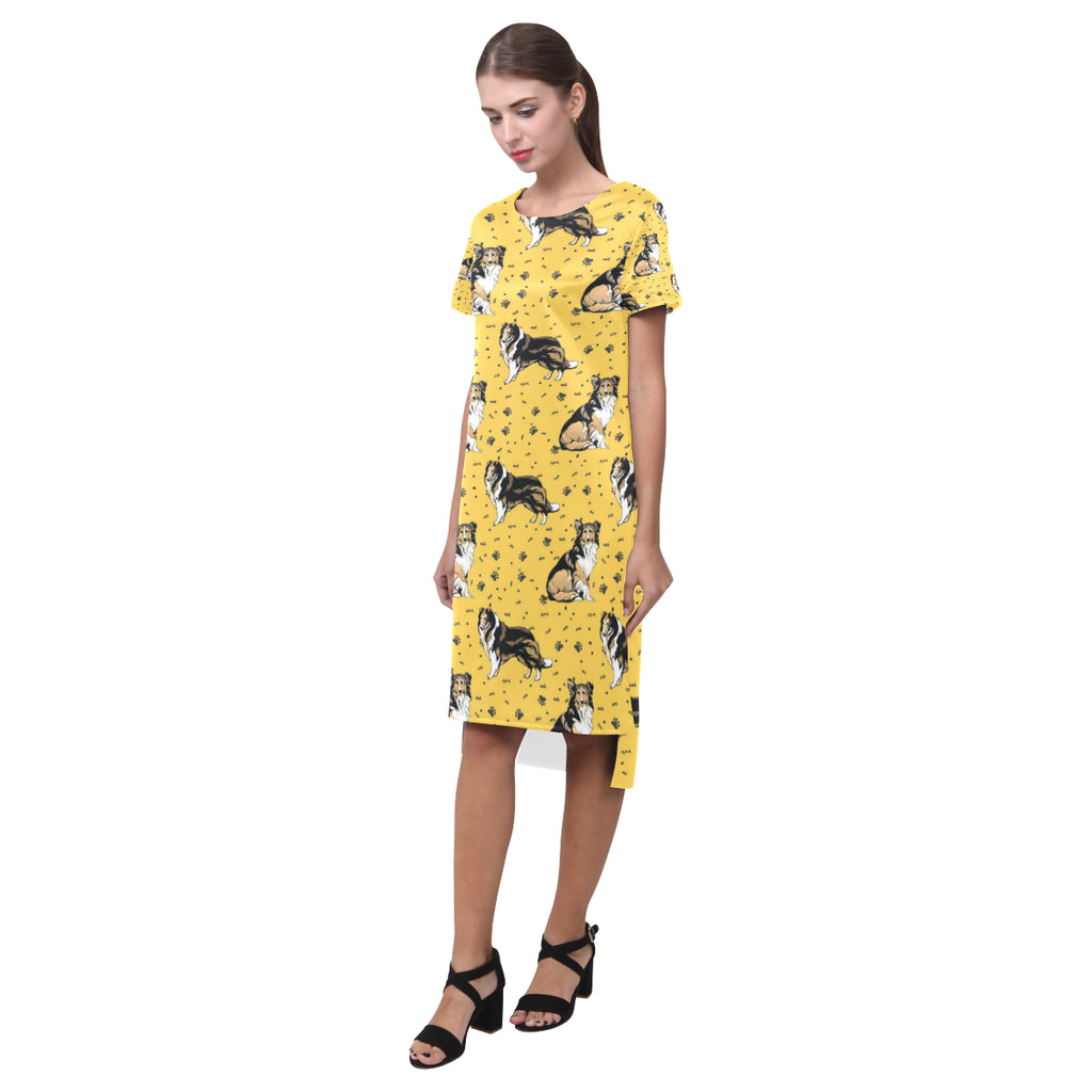 Collie Short Sleeves Casual Dress - TeeAmazing