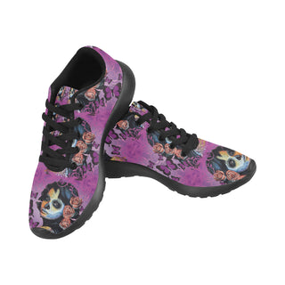 Sugar Skull Candy V1 Black Sneakers for Men - TeeAmazing