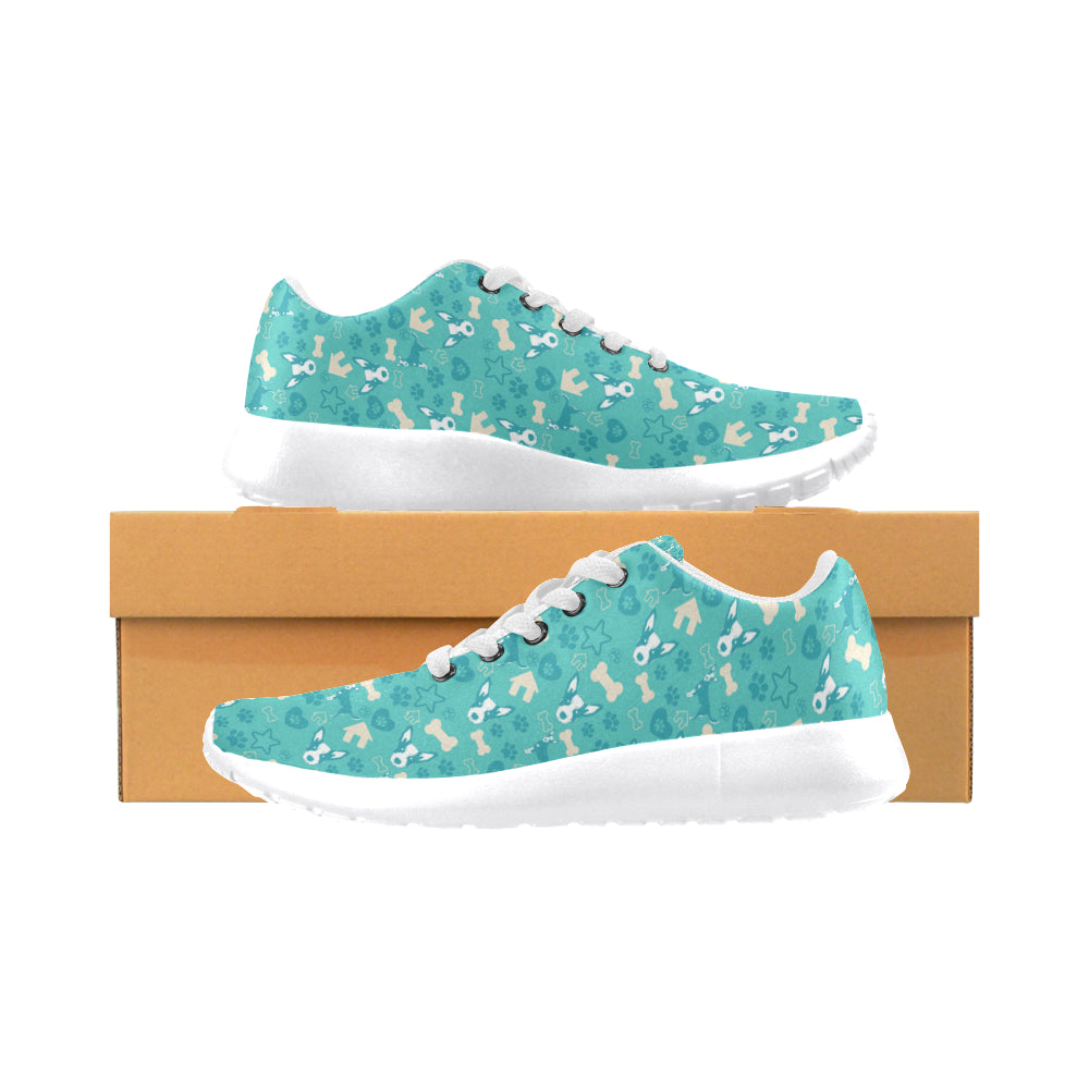 Australian Cattle Dog Pattern White Sneakers for Men - TeeAmazing