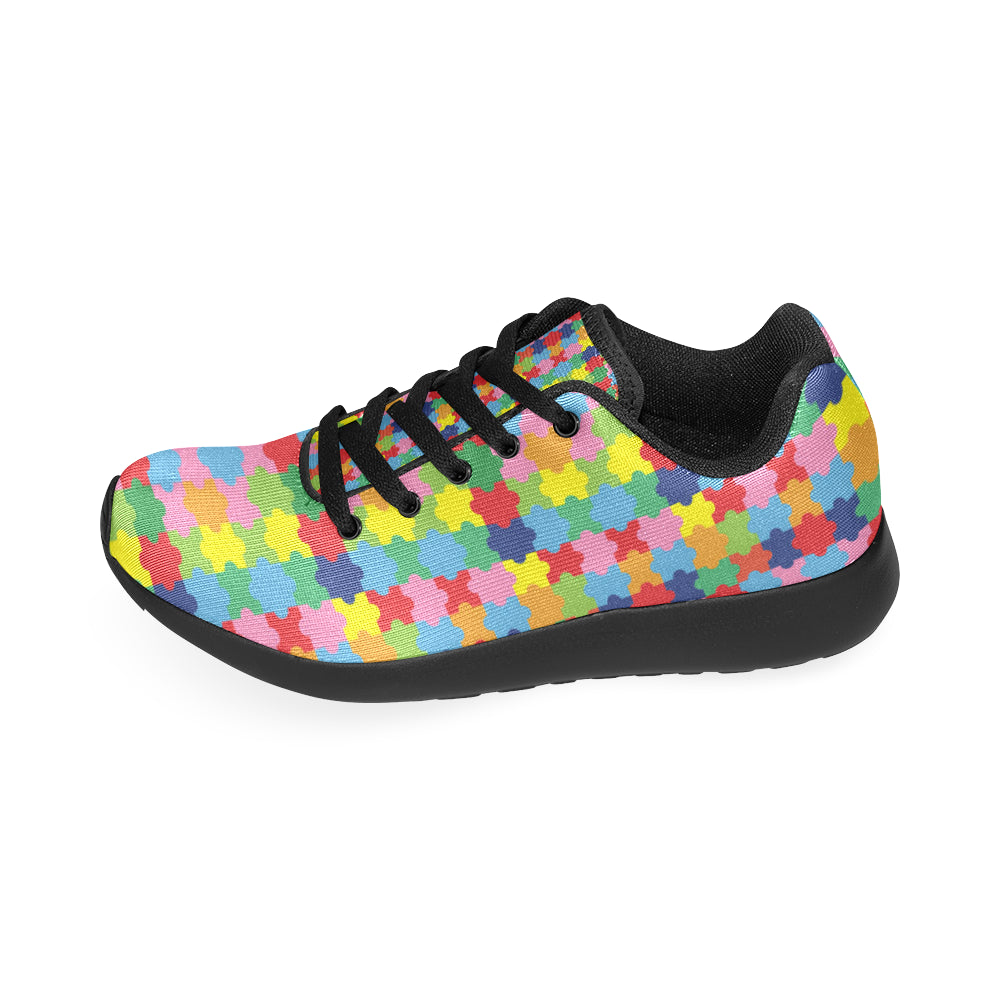 Autism Black Sneakers for Women - TeeAmazing
