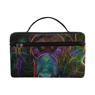Boxer Glow Design 2 Cosmetic Bag/Large - TeeAmazing