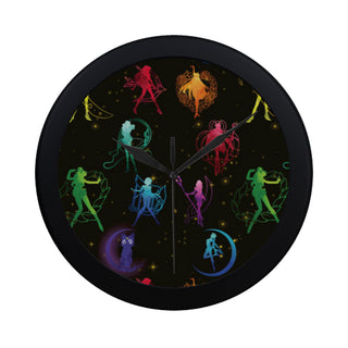 All Sailor Soldiers Black Circular Plastic Wall clock - TeeAmazing