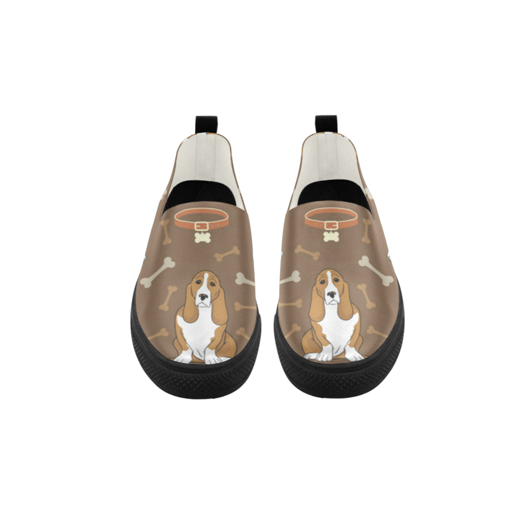 Basset Fauve Apus Slip-on Microfiber Women's Shoes - TeeAmazing