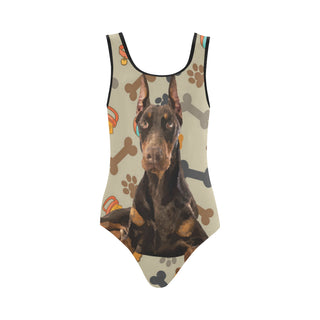Doberman Dog Vest One Piece Swimsuit - TeeAmazing